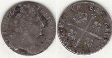 Monnaie Louis XIV 20 Sols aux insignes 1707 &