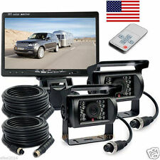 "For RV Truck Bus Van IR Rear View Backup Cameras Night Vision System+7"" Monitor"