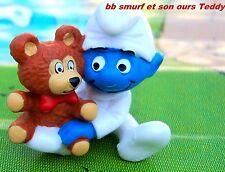 20205 Schtroumpf bébé teddy ourson smurf schtroumpf  pitufos puffo puffi  TBE