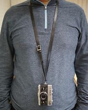 Adjustable Leather Neck Strap for Rollei 35 Cameras in Black or Tan Free Ship!
