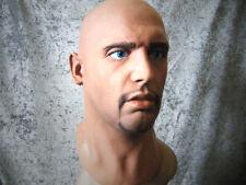 Latexmaske MORGAN +AUGEN - Realist. Männermaske Mann Gummi Latex Gesicht m. Bart