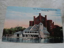 MADISON WI University of Wisconsin Boat House & Gym early 1900's. Postcard