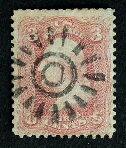 Scott US 65 3¢ 1861 Washington, Used / SF Cogwheel Type I Cancel