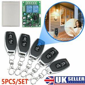 1CH Garage Door Remote Control Switch Relay Wireless Transmitter Receiver Kit UK