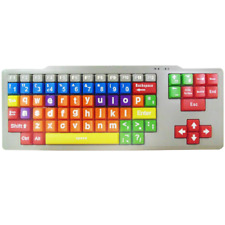 Educational Colour Coded Big Keys Kids USB Computer Keyboard (Lower Case)
