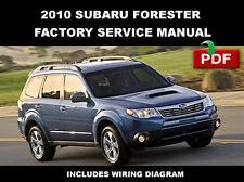 2010 SUBARU FORESTER ULTIMATE FACTORY SERVICE REPAIR WORKSHOP MAINTENANCE MANUAL