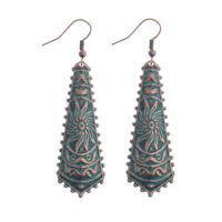 Vintage Ethnic Women's Carved Drop Geometric Dangle Fashion Gpsy Earrings