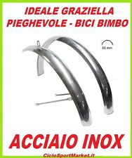 """COUPLE FENDERS for bike GRAZIELLA - FOLDABLE size 20"""" Stainless steel"""