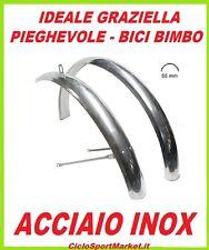 """COPPIA PARAFANGHI per bici GRAZIELLA - PIEGHEVOLE misura 20"""" in ACCIAIO INOX"""