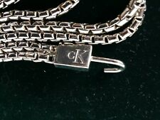 Vintage calvin klein Silver Metal Belt in velvet bag Euc Nice