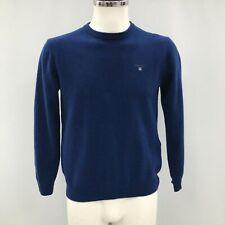Gant Azul 100% Lana De Cordero Punto Fino Casual Jersey de cuello redondo para hombres talla M 183213