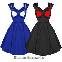 RKH16 Hearts & Roses Rockabilly Party Costume Dress 50's Vintage Pin Up Swing
