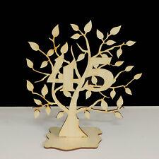 Jubiläumsbaum Geburtstag, 45 Jahre aus Holz 16cm Lebensbaum Geschenk Hochzeit