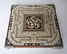 C.1877 MINTON esthétique Tile brevet par Royal Lettres HS & H Théière Stand A433