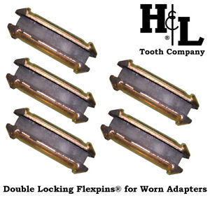 23DLFP Flexpins® (5 Pack) H&L Double Locking Flex Pins for Worn 23 230 Adapters