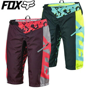 Fox Womens Demo DH MTB Shorts - Miami Green, Neon Red
