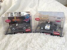 New Disney Store 2 Chase Diecast Pixar Cars-Lightening McQueen & Sheriff In Case