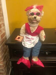 CHANTILLY LANE COCO I'M A WOMAN DOMESTIC DIVA GIRL PLUSH BEAR PBC