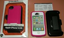 Body Glove ToughSuit Case + Holster/belt clip, for iPhone 4/4s, Pink/White case