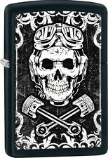 Zippo 2016 Catalog NEW Skull Goggles And Wrenches Black Matte Color Image 29088