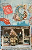 DB Postcard CA G343 Bernsteins Fish Grotto Powell St San Francisco The Nina