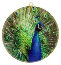Acrylic Peacock Wildlife Suncatcher Window Ornament, 3 1/2 Inch