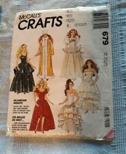 "Vtg Lot 11.5""  TEEN DOLL CLOTHING Patterns BARBIE Darci Maxie Cut Complete"