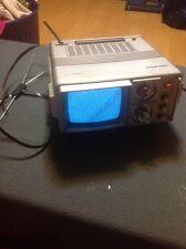"Vtg 1984 Daytron B&W 5"" Tv Ac Dc Batt Power Dt-505A With Antenna"