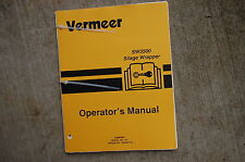 VERMEER SW3500 SILAGE WRAPPER Owner Operator Operation Maintenance Manual book