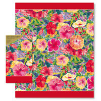 Guest Hand Towels Napkins Island Heritage Hawaii Hibiscus Impressions 15 Count