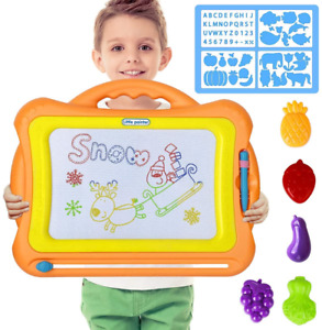 LOYO Magnetic Drawing Board - Magna Doodle Scribble Board Erasable Colorful Pad