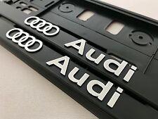 2 x ECHTE 3D Kennzeichenhalter  Nummernschildhalter Audi.