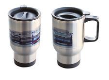 12x Stainless Steel Travel Mug or Moto Mug for Dye Sublimation Printing - Silver
