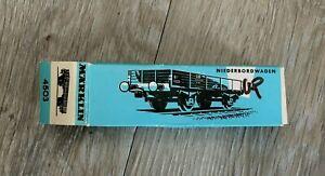 MARKLIN HO 4503 DB LOW SIDED GOODS TRUCK (NIEDERBORDWAGEN) DB 464 637 - BOXED