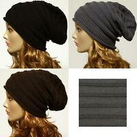 Knit Baggy Beanie Oversize Winter Hat Ski Slouchy Chic Cap Unisex Winter Cap