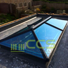 ROOF LANTERN SKYPOD - ANTHRACITE GREY ON WHITE - 750MM X 750MM EXTERNAL SIZES