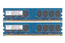 4GB Nanya (2x 2GB) 2Rx8 PC2-6400 240Pin DIMM DDR2 800Mhz 1.8V Desktop Memory RAM
