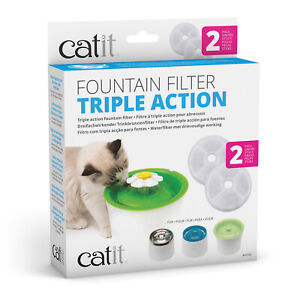 Catit 2.0 Senses Flower Water Fountain Replacement Filter For Cats 2 Pack