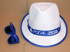 Playstation PS 4 PS4 promo Hat & Sunglasses from Gamescom 2015