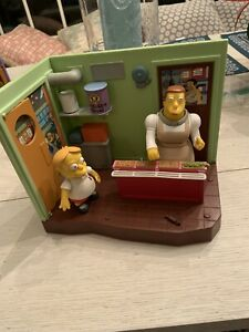 The Simpsons WOS Elementary Cafeteria Loose + Martin Prince Works New Batteries