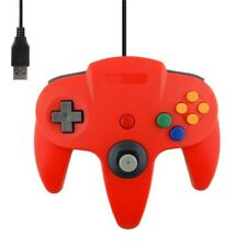 Manette Gamepad contrôleur USB Nintendo 64 (N64) pour PC MAC - 1,80 m - Rouge