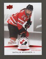 (59220) 2014-15 UPPER DECK TEAM CANADA JUNIORS RED NATALIE SPOONER #83 (112/199)