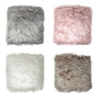 "Faux Fur Cushion Cover Mongolian Mohair Furry Pillow Cushion Covers 18"" x 18"""