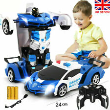 Toys for Kids Transformer RC Robot Car 2 IN1 Remote Radio Control Xmas Gifts UK