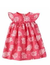 NWT Gymboree Girls Elephant Oasis Pink White Floral Dress Size 6-12 M