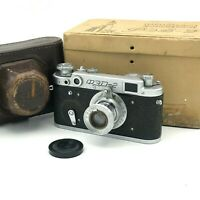 Vintage Camera FED 2 Industar 62 Rare Lens F/3.5 50mm Rangefinder 35mm 60s USSR