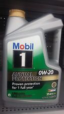 2017 NEW Mobile 1 Annual  Protection ultimate full synthetic oil,  0W-20