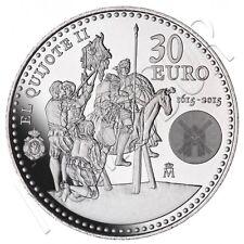 ESPAÑA 30 euro plata 2015 S/C II SERIE EL QUIJOTE