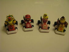 Yujin Mario Kart Collection  Super Mario Donkey Kong Peach Bowser Pull back Car