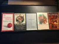 Christmas cassettes, lot of 10, Kenny Rogers, Charlie McCoy, Natalie Cole, Hilla